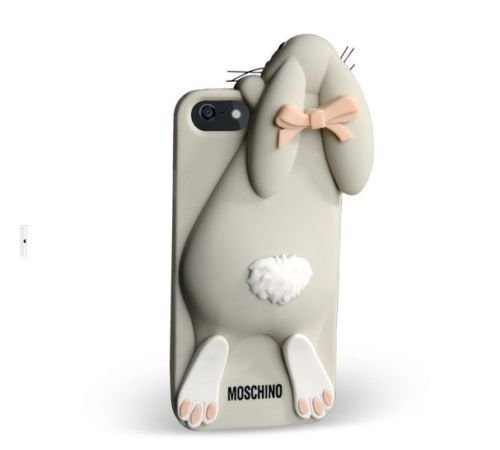Moschino Rabbit 3D Silicone Back Cover Case For Apple iPhone 5G (Grey)