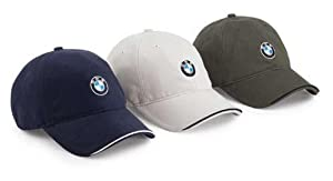 BMW Genuine Factory OEM Recycled Brushed Twill Cap - Stone by BMW Factory OEM