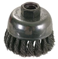 6 Inch X .023 Knot Type Cup Brush Heat Treated Steel