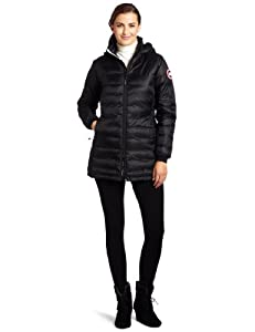 Canada Goose Women's Camp Hooded Jacket,Black,Large