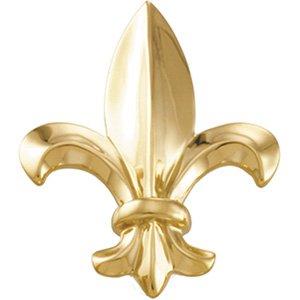 Amazon.com: 33.00X26.00 Mm 14K Yellow Gold Fleur De Lis