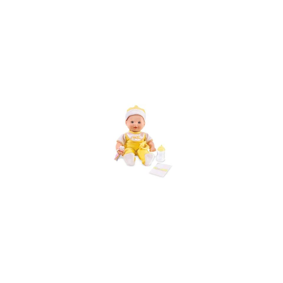 Little Mommy Real Loving Baby Cuddle & Coo Doll   Yellow Velour Outfit