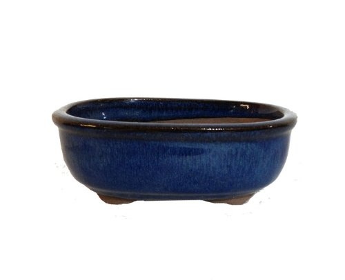 12cm / 5 inch Superior quality glazed ceramic bonsai pot (p1)