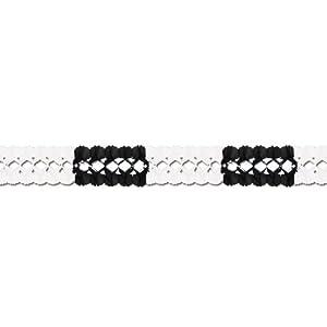 Girlande Schwarz-Weiß 4m lang, hochwertige Qualität