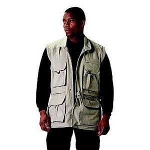 Safari Vest Jacket - KHAKI CONVERTIBLE SAFARI OUTBACK JACKET XLRG
