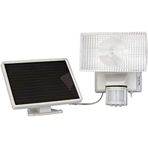 MAXSA Innovations 40225 Solar-Powered Motion-Activated 80 LED Security Floodlight