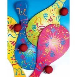 Neon Paddles & Balls (12/PKG) - 1