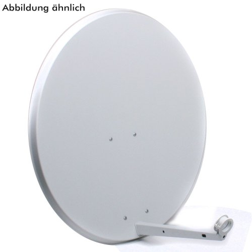 sat antenne 80 cm stahl hellgrau satelliten sch ssel. Black Bedroom Furniture Sets. Home Design Ideas