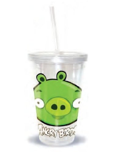 Angry Birds 16Oz Piglet Tumbler With Straw