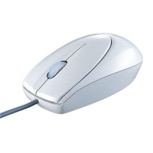 iBUFFALO 光学式有線マウス USB接続 Lサイズ 白箱 RoHS対応 ライトグレー BOMULLGA