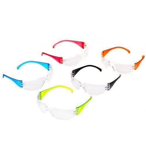 Sale!! Safety Glasses Intruder Multi Color Clear Lens 12/box