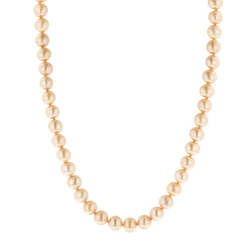Champagne Freshwater Cultured A Quality 8.5-9mm Pearl Necklace, 24