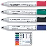 Staedtler Lumocolor Whiteboard Marker 351WP6 Bullet Tip - Assorted Colours (Pack of 6)