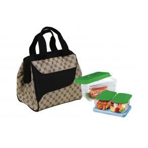 Fit&Fresh 372Ff16 Light Brown Lunch Kit Downtown With Log-By-