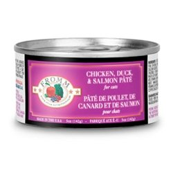 Fromm Four Star Chicken, Duck And Salmon Pate Canned Cat Food 5Oz (12 In A Case)
