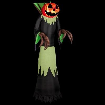 8.9 Ft. Inflatable Fire And Ice Pumpkin Reaper front-1005041