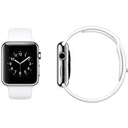 Apple Watch Band, STOUCH Multi color high-performance fluoroelastomer Strap Wrist Band Replacement W/ Metal Clasp for Apple Watch Sport Edition - 42mm White