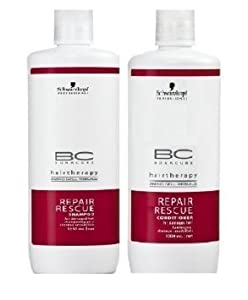 Schwarzkopf Bonacure Repair Rescue Shampoo and Conditioner Liter Duo Set (33....