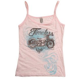 Hot Leathers Timeless Ladies Burnout Tank Top Ladies Medium Pink