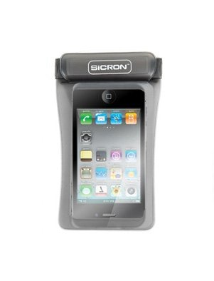 Cell Phone Waterproof Case 4.8 Inch Smart Phone Arm Band, Neck Strap, Small Digital Camera Case For Outdoor, Swimming, Beach, Hiking, Camping, Skiing (Black)