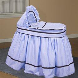 Blue Friendship Bassinet Liner/Skirt And Hood - 16 X 32 front-1024816
