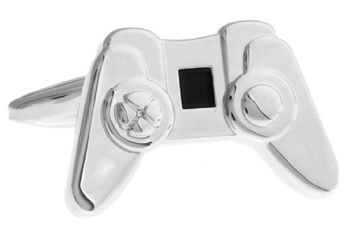 Computer Video Game Controller Cufflinks With A Presentation Gift Box