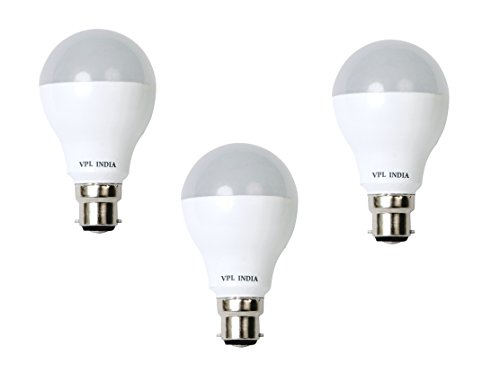 AXVPL029 LED Bulbs 5W, 7 W & 9 Watt (White, Pack of 3)
