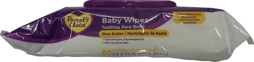 Parent'S Choice Baby Wipes 80Ct Shea Butter