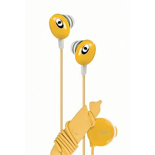 Iluv Iep311Org The Bean In-Ear Stereo Earphone With Volume Control - Orange