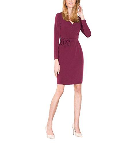 ESPRIT Collection 106EO1E014 - Regular Fit, Vestito Donna, Rosso (Bordeaux Red), 42 (Taglia Produttore: X-Large)