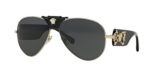 black aviator sunglasses mens  100287 gold/black