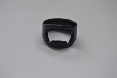 1Pc Black Stainless Steel Ring Bottle Openers (Size 14)