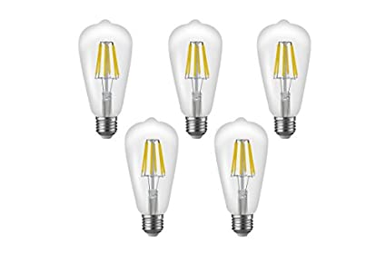 Imperial-6W-E27-LED-Filament-Bulb-(White,-Pack-Of-5)