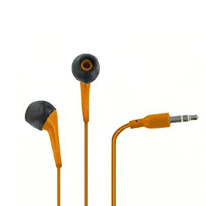 EMPIRE 3.5mm Orange Stereo Earbud Headphones for ZTE Majesty