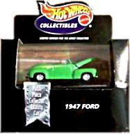 Hot Wheels Collectibles - Limited Edition Cool Collectibles - 1947 Ford - 1:64 Scale Collector Car Replica. Green Body Color. Mounted in Collector's Display Case - 1