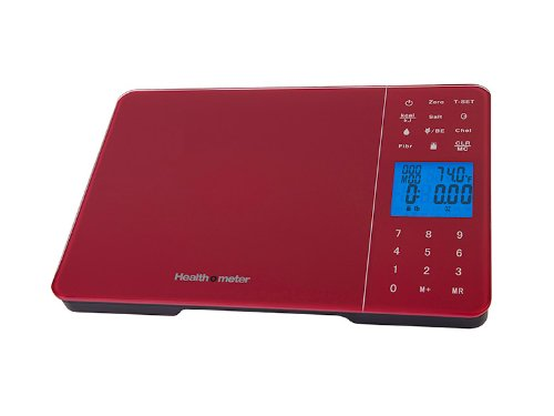 Health O Meter Hm5R Diet Tracking Digital Kitchen Scale 11Lb/5000Gm, Red