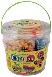 Perler Fun Fusion Fuse Bead Activity Bucket-Bead Mania