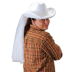 Western Bride's Hat Party Accessory (1 count) (1/Pkg) by The Beistle Company
