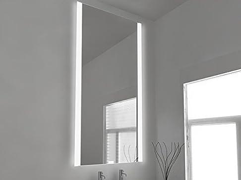 Fluorescente Specchio Da Bagno Illuminato - Petrina 49v h:1300 x w:600 x profondità 45mm
