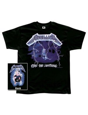 Metallica Ride The Lightning 2-sided black T-shirt (Medium)