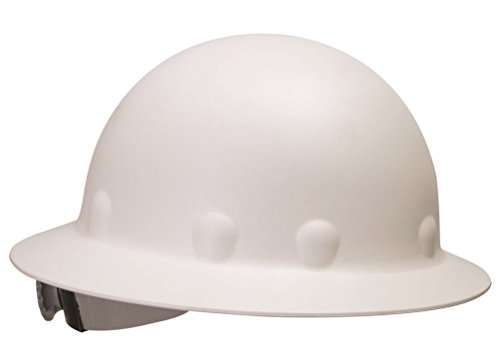 Fibre Metal P1 Roughneck Full Brim Injection Molded Fiberglass Hard Hat with Ratchet Suspension, White (White Full Brim Hard Hat compare prices)