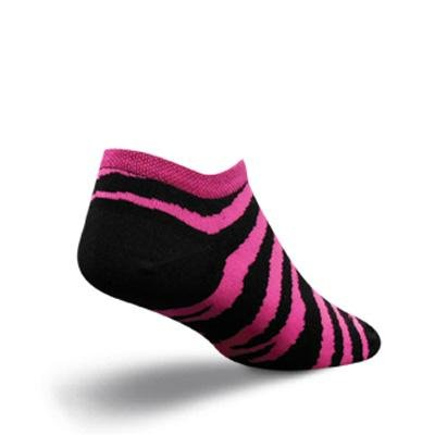 Buy Low Price SockGuy Women's No-Show Zebra Pink Cycling/Running Socks (B005TBVZL8)