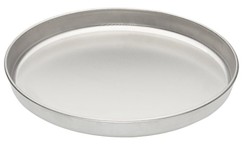 Fante's Cousin Serafina's Micro-Textured Naturally Non-Stick Pizza Pan, 13-Inch, Deep Dish, Stainless Steel