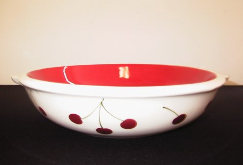 Ronnie's Terramoto Ceramic, Pie Dish / Plate, Tomato Red with Cherries - Buy Ronnie's Terramoto Ceramic, Pie Dish / Plate, Tomato Red with Cherries - Purchase Ronnie's Terramoto Ceramic, Pie Dish / Plate, Tomato Red with Cherries (Terramoto, Home & Garden, Categories, Kitchen & Dining, Cookware & Baking, Baking, Pie Tart & Quiche Pans, Pie Pans)