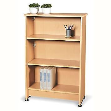 "Milano Three Shelf Bookcase - 49""H (Maple Finish)"