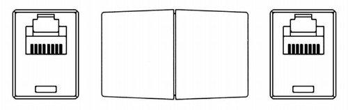 Modular-Doppelkupplung RJ45 (8p8c) Beidseitig RJ45 (8p8c)