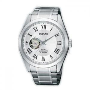 Pulsar By Seiko AUTOMATIC Skeleton Movement 21 Jewels 100 Meters Water Resistant Elegant Dress Watch PS2005