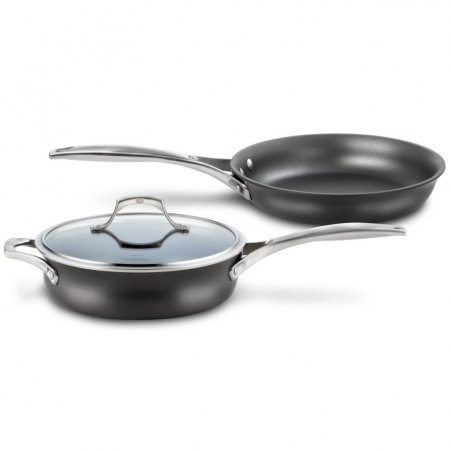 calphalon 3pc unison nonstick sear and slide essentials set with lid