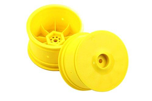 Team Durango TD510017 DEX410 Hex Yellow Rear Wheel (2-Piece), 14mm - 1