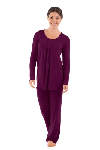 Womens Luxury Pajamas Pj Set Great Valentine'S Day Gifts Gift Ideas Women Presents Wb0006-Con-S front-205917